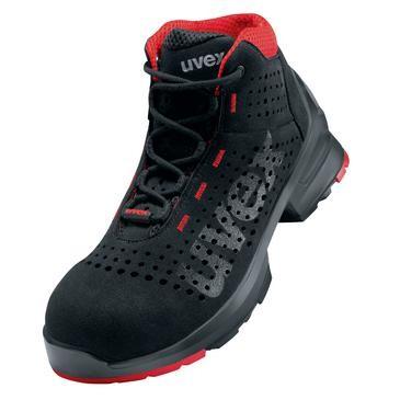 uvex Stiefel 8547 schwarz/rot PUR