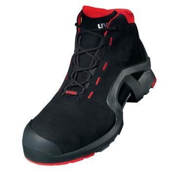 uvex Stiefel 8517 schwarz/rot PUR