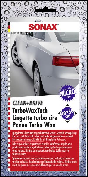 SONAX Clean+Drive TurboWaxTuch 40x50 Thekendisplay