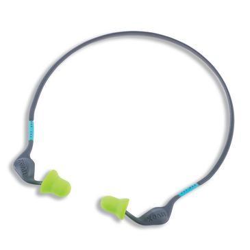 uvex Gehörschutzstöpsel xact-band, grün, grau, SNR 26 dB, Größe M, L - Inhalt: 5 Stück