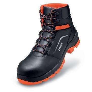 uvex Stiefel 9507 schwarz/rot PUR