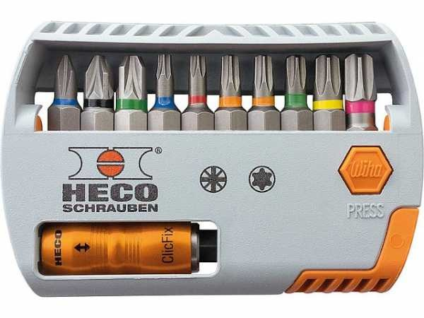 HECO - HECO-Bit-Selector, HECO- und Pozi-Drive, 11-tlg.