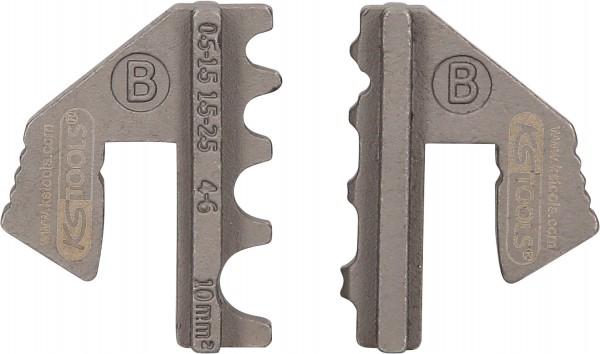 KS Tools Paar Crimp-Einsätze für nicht isolierte Kabelösen, Ø 0,5 - 10 mm