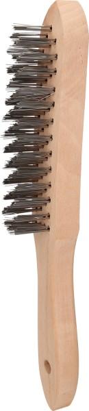 Brilliant Tools Stahl-Handdrahtbürste 4-reihig, 290mm - BT706002