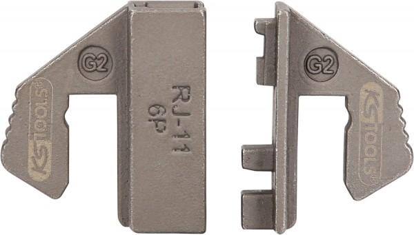 KS Tools Crimpeinsatz für ungeschirmte WE-Stecker 6P2K, 6P4K - RJ11, 6P6K - RJ12