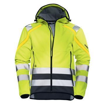 uvex protection flash Herren-Softshelljacke Warnschutzkleidung, Regular Fit
