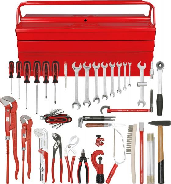 KS Tools Sanitär-Basic Werkzeug-Satz, in Metallkiste, 34-tlg
