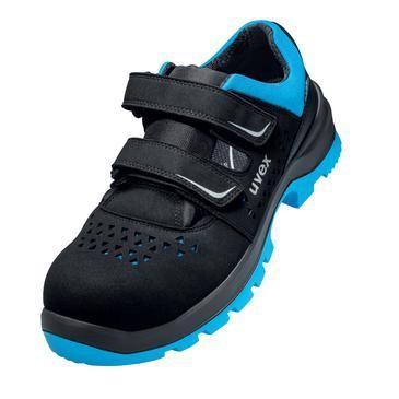uvex Sandale 9553 micro schwarz/blau PU/PU