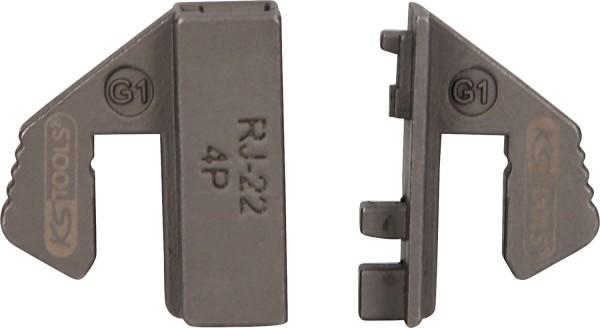 KS Tools Crimpeinsatz für ungeschirmte WE-Stecker 4P, RJ - 22