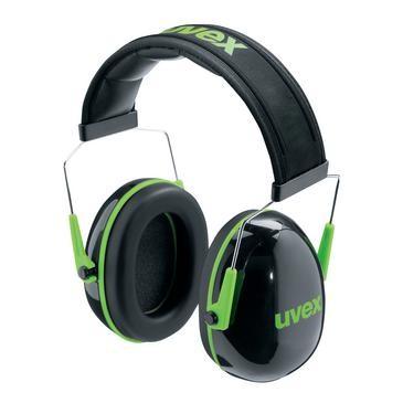 uvex Kapselgehörschutz K1, schwarz, grün, SNR 28 dB, Größe L, M, S