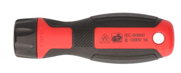 KS Tools Schraubendreher-Handgriff für Schnellwechsel-Schraubendreher-Einsätze, 110 mm