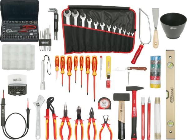 KS Tools Premium Elektriker-Werkzeugkoffer, Nylontasche, 132-tlg