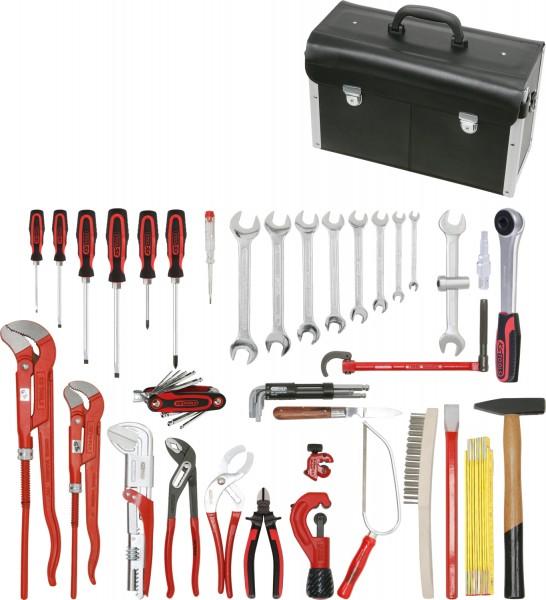 KS Tools Sanitär-Basic Werkzeug-Satz, in Lederkoffer, 34-tlg