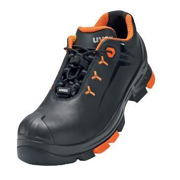 uvex Halbschuh 6502 schwarz/orange PUR