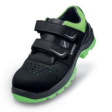uvex Sandale 9559 micro schwarz/grün PU/PU