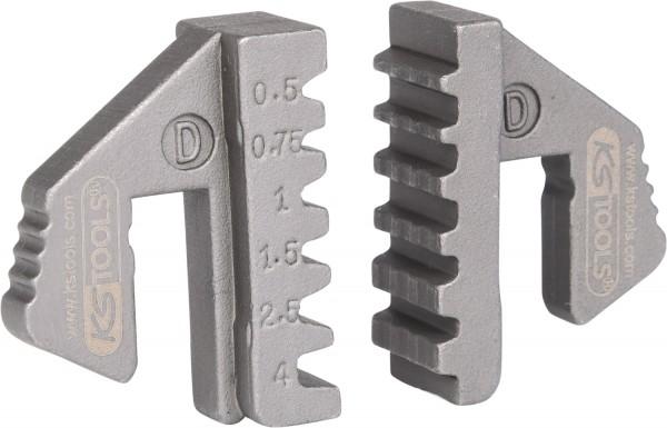 KS Tools Paar Crimp-Einsätze für Aderendhülsen, Ø 0,5 - 4 mm