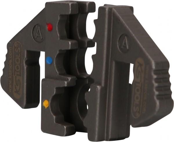KS Tools Paar Crimp-Einsätze für isolierte Kabelschuhe, Ø 0,5 - 6 mm