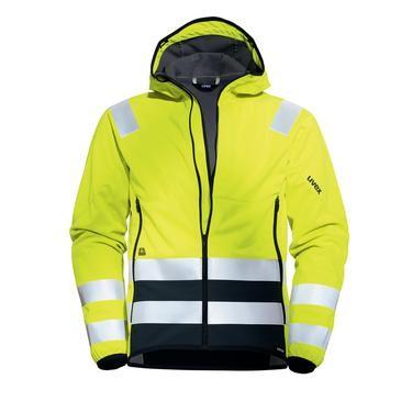 uvex protection flash Herren-Softshelljacke Warnschutzleidung, Regular Fit