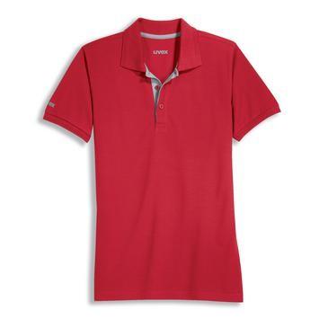 uvex Herren-Poloshirt in rot, Regular Fit