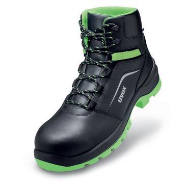 uvex Stiefel 9566 schwarz/grün PUR