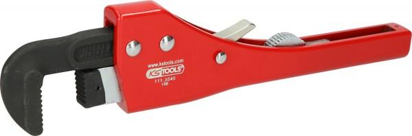 KS Tools Einhand-Ratschen-Rohrzange mit verstellbarem Kopf