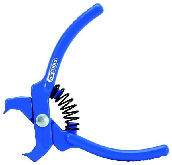 KS Tools Niet-Lösezange, blau, gerade, 100mm
