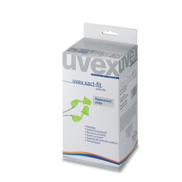 uvex Gehörschutzstöpsel xact-fit, grün, SNR 26 dB, Größe M - Inhalt: 400 Stück
